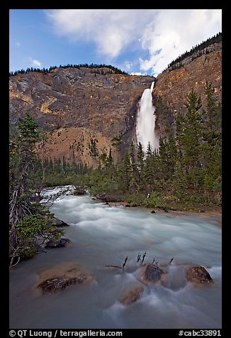 Yoho River flowing from Takakkaw Falls. Yoho National Park, Canadian Rockies, British Columbia, Canada (color)