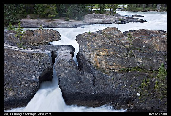 River flowing through the Natural Bridge. Yoho National Park, Canadian Rockies, British Columbia, Canada (color)