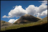 Peak, clouds, and shadows. Kootenay National Park, Canadian Rockies, British Columbia, Canada