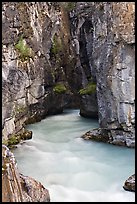 Tokkum Creek at the entrance of narrows of Marble Canyon. Kootenay National Park, Canadian Rockies, British Columbia, Canada ( color)