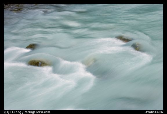 Water flowing in Tokkum Creek. Kootenay National Park, Canadian Rockies, British Columbia, Canada