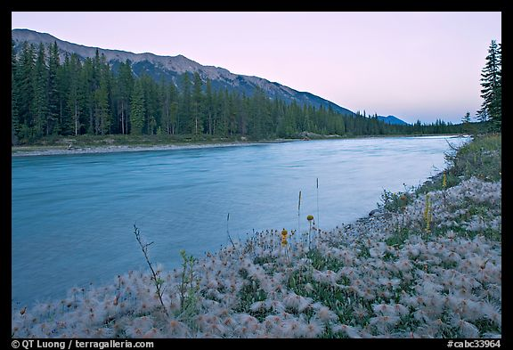 Kootenay River and Mitchell Range, sunset. Kootenay National Park, Canadian Rockies, British Columbia, Canada (color)