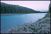 Kootenay River and Mitchell Range, sunset. Kootenay National Park, Canadian Rockies, British Columbia, Canada ( color)