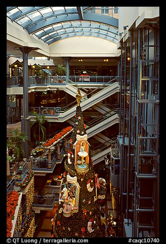 Inside one of the huge indoor shopping malls, Montreal. Quebec, Canada (color)