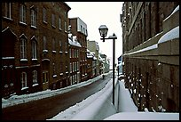 Street in winter, Quebec City. Quebec, Canada