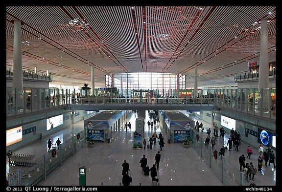 Terminal 3, Beijing Capital International Airport. Beijing, China