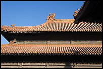 Roof detail, Forbidden City. Beijing, China ( color)