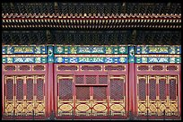 Facade detail in the back of the Hall of Preserving Harmony, Forbidden City. Beijing, China