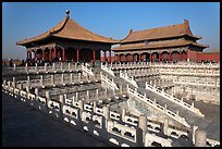 Hall of Middle Harmony and Hall of Preserving Harmony, Forbidden City. Beijing, China (color)
