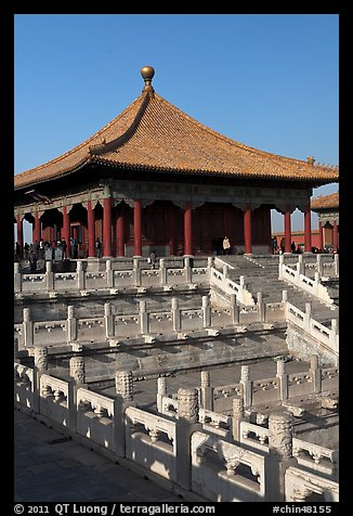 Hall of Central Harmony, Forbidden City. Beijing, China (color)