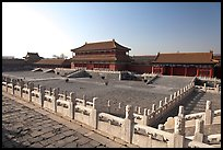 Hongyi Pavilion and inner court, Forbidden City. Beijing, China (color)