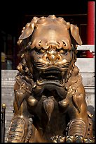 Gilded lion, Forbidden City. Beijing, China