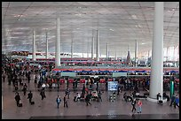 Interior of Norman Foster designed terminal 3, International Airport. Beijing, China ( color)