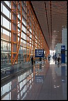 Departure area, Capital International Airport. Beijing, China (color)