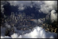 Aerial view of Kowloon. Hong-Kong, China (color)