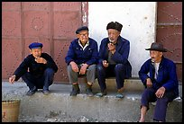 Elderly men. Shaping, Yunnan, China (color)
