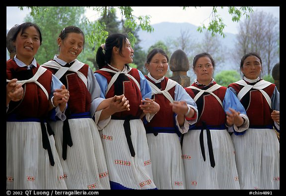 Naxi women. Baisha, Yunnan, China
