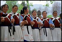 Naxi women. Baisha, Yunnan, China (color)