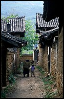 Village streets. Baisha, Yunnan, China (color)