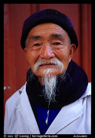 Dr Ho, famous herborist doctor. Baisha, Yunnan, China (color)