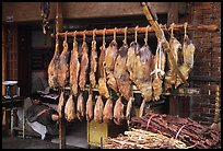Ham made with cattle legs, salted when raw, and dried under the sun. Kunming, Yunnan, China