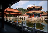 Octogonal pavilion of Yuantong Si, a 1200 year old Tang dynasty Buddhist temple. Kunming, Yunnan, China (color)