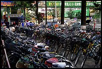 Bicycle parking lot. Kunming, Yunnan, China ( color)