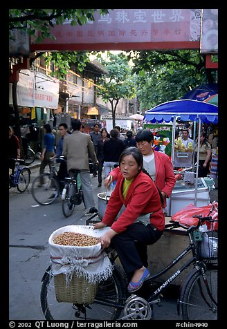 Street vendor in an old alley. Kunming, Yunnan, China (color)
