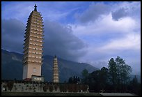 Quianxun Pagoda, the tallest of the Three Pagodas. Dali, Yunnan, China