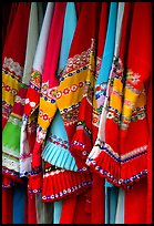 Sani dresses for sale. Shilin, Yunnan, China ( color)