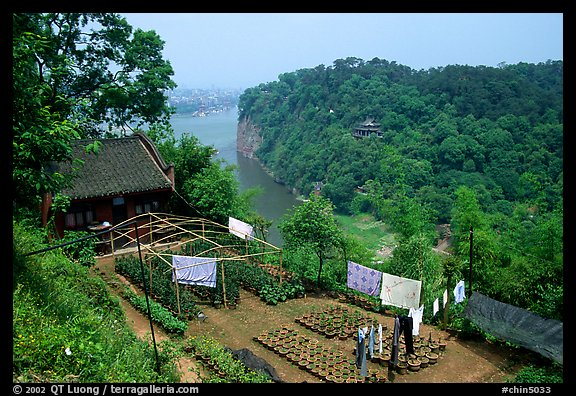 Cultures on Wuyou Hill. Leshan, Sichuan, China (color)