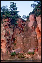 Da Fo (Grand Buddha) seen from the river. Leshan, Sichuan, China