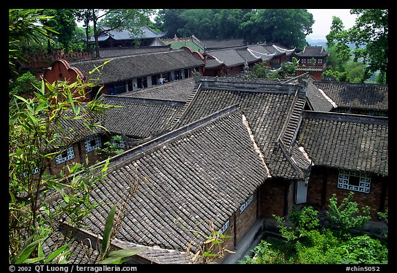 Wuyou Si, Tang dynasty temple. Leshan, Sichuan, China (color)