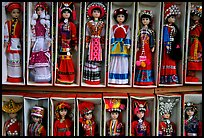 Dolls wearing traditional Bai dress. Lijiang, Yunnan, China ( color)