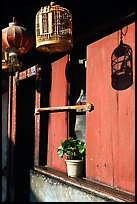 House facade. Lijiang, Yunnan, China ( color)