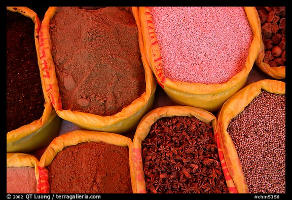 Spices for sale at the market.  (color)