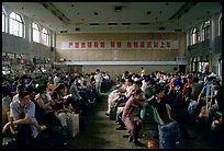 Waiting at the Panzhihua (Jingjiang) train station. (color)