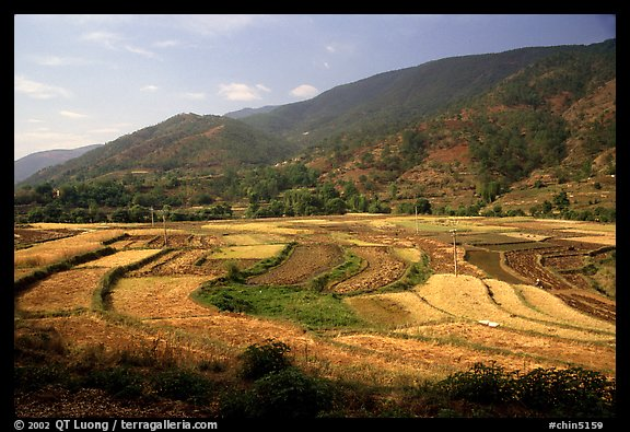 Fields on the road between Lijiang and Panzhihua.