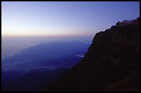 Sunset on Jinding Si (Golden Summit), perched on a steep cliff. Emei Shan, Sichuan, China