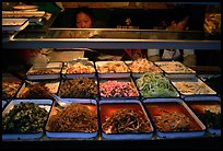 Food stall by night. Sichuan food is among China's spiciest. Chengdu, Sichuan, China ( color)