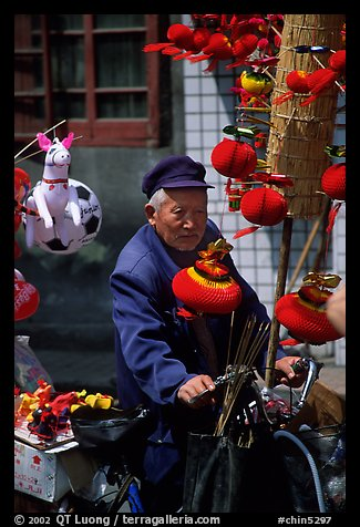 Lantern seller. Chengdu, Sichuan, China