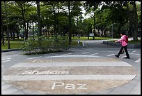 Multilingual peace word, 2-28 Peace Park. Taipei, Taiwan (color)
