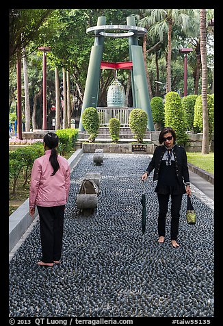 Foot massage path, 2-28 Peace Park. Taipei, Taiwan (color)