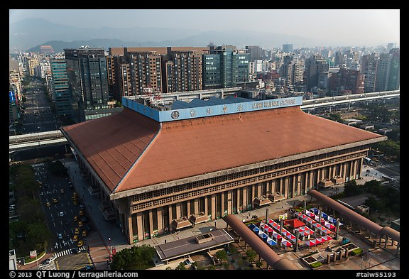 Central station seen from above. Taipei, Taiwan (color)