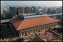 Central station seen from above. Taipei, Taiwan ( color)