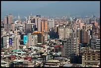 Old town center buildings from above. Taipei, Taiwan ( color)