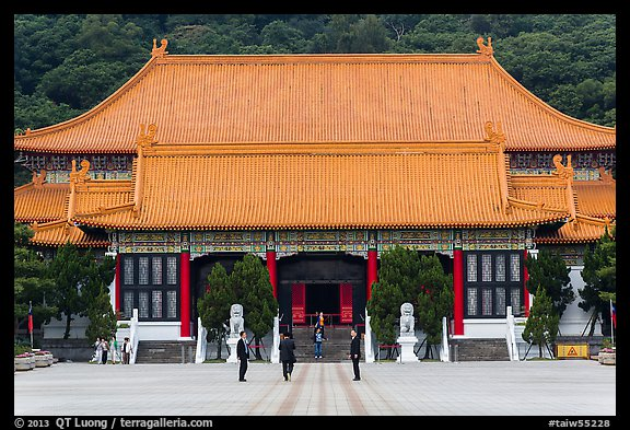 Main shrine, Martyrs Shrine. Taipei, Taiwan (color)