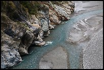 Braided stream, Taroko Gorge. Taroko National Park, Taiwan ( color)