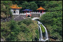 Eternal Spring Shrine and waterfall. Taroko National Park, Taiwan (color)