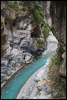 Gorge of the Liwu River, Taroko Gorge. Taroko National Park, Taiwan (color)